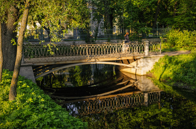 A bridge in Tavrichesky garden.