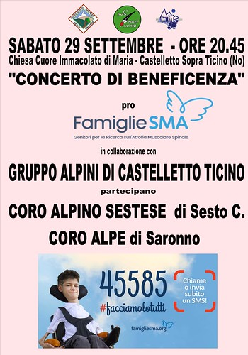 Concerto di beneficenza | by Coro Alpe di Saronno