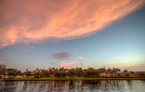 tampaflorida hillsboroughriver sunset downtown city sun river hillsborough fla tampa landscape water