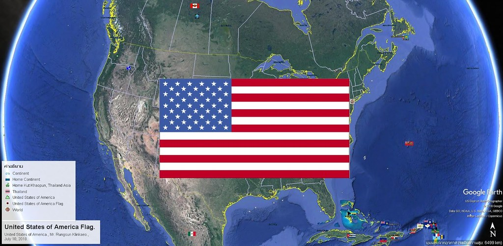 United States of America Flag., United States of America ...