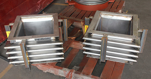 Rectangular Metallic Expansion Joints Designed for an Exhaust Duct