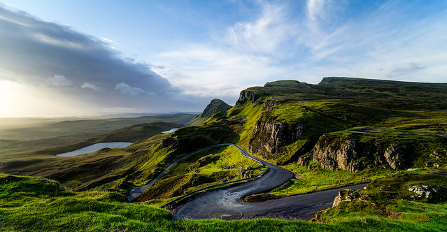 Single Track Road to the Quiraing Parking Lot
