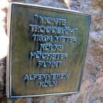 Hinweisschild auf dem Monte Troodelöh im Königsforst