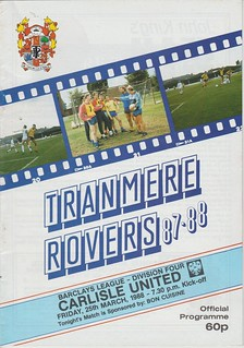 Tranmere Rovers V Carlisle United 25-3-88   by cumbriangroundhopper