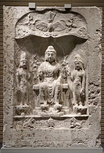 Triade bouddhique (musée national de Tokyo, Japon)