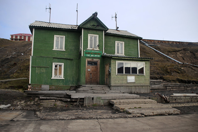 Barentsburg harbour