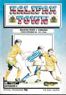 Halifax Town V Carlisle United 16-9-88 | by cumbriangroundhopper