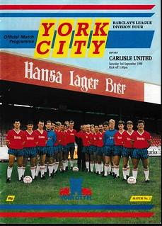 York City V Carlisle United 3-9-88   by cumbriangroundhopper