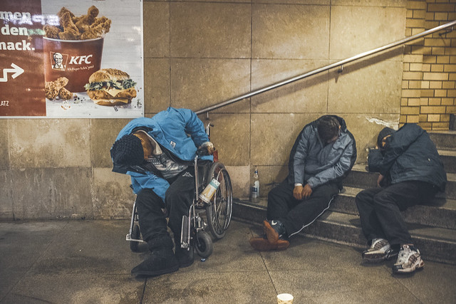 Junk food makes you sleepy. Berlin, February 2017.