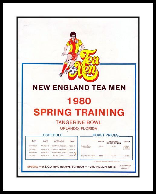 New England Tea Men vs Detroit Express Pre-Season Program, 1980