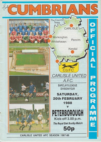 Carlisle United V Peterborough 20-2-88 | by cumbriangroundhopper
