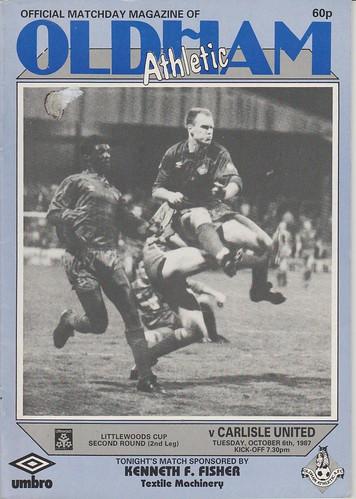 Oldham Athletic V Carlisle United 6-10-87 | by cumbriangroundhopper