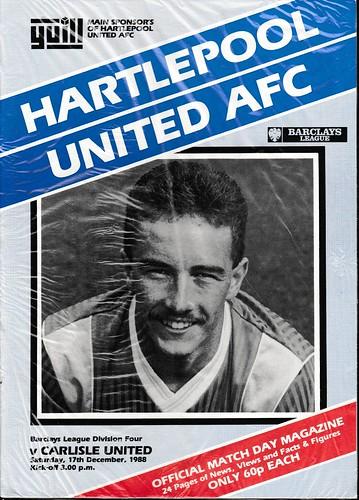 Hartlepool United V Carlisle United 17-12-88   by cumbriangroundhopper