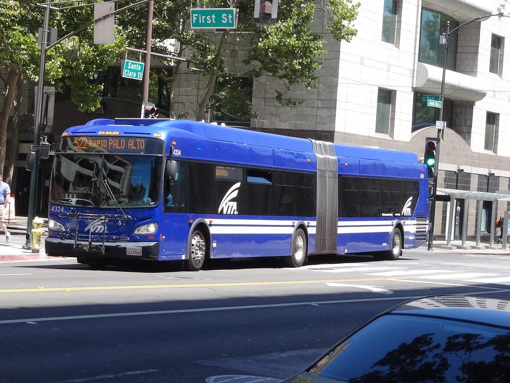Dsc03746 Vta Rapid Palo Alto 522 City Bus San Jose
