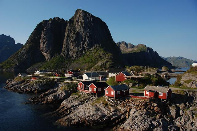 Hamnøy - View from the bridge