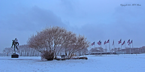 Liberty State Park's Southern End DAWN Scene (#12) After Snow and Ice Storm— Jersey City New Jersey