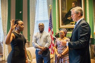 "Governor Baker Swears In Dr. Noreen ""Chioma"" Okwara to the University of Massachusetts Board of Trustees 09.10.18 
