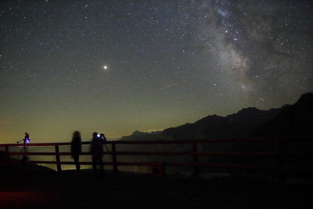 La Vista Del Cielo Stellato In Una Notte Serena Dona Una