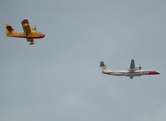 Sécurité Civile, Fire Fighting Airwing-Water Bomber Group, F-ZBMD-tanker 74 De Havilland Canada DHC-8-402Q-MR Dash 8 cn 4043, F-ZBFY,