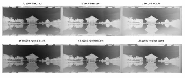 FP4+ stand rodinal vs timed hc110 neg
