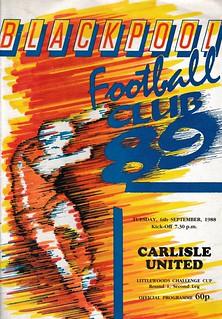 Blackpool V Carlisle United 6-9-88 | by cumbriangroundhopper