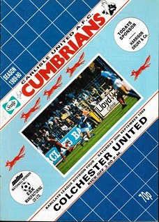 Carlisle United V Colchester United 30-9-89 | by cumbriangroundhopper