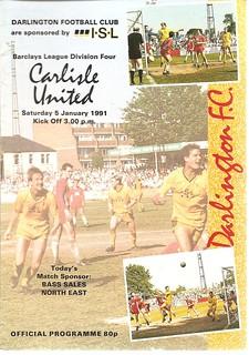 Darlington V Carlisle United 5-1-1991   by cumbriangroundhopper