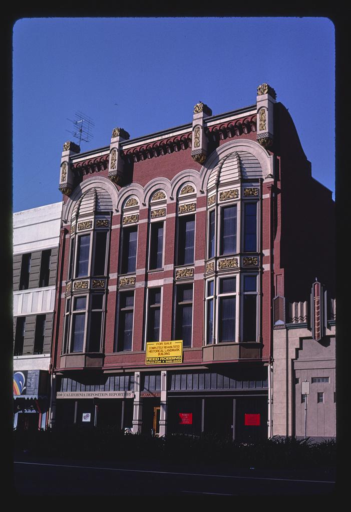 Commercial building, Weber Street, Stockton, California (LOC)