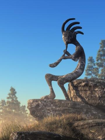 Kokopelli Statue