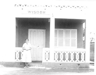 Erma Grove at Girls hostel Accra Ghana 1955