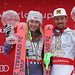 ARE,SWEDEN,18.MAR.18 - ALPINE SKIING - FIS World Cup Final, giant slalom, ladies. Image shows Mikaela Shiffrin (USA) and Marcel Hirscher (AUT). keywords: crystal globe, medal Photo: GEPA pictures/ Andreas Pranter, foto: GEPA pictures/ Andreas Pranter