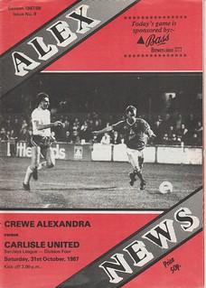 Crewe Alexandra V Carlisle United 31-10-87 | by cumbriangroundhopper