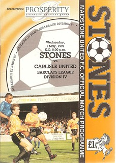 Maidstone United V Carlisle United 1-5-91 | by cumbriangroundhopper