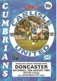 Carlisle United V Doncaster 25-8-90 | by cumbriangroundhopper