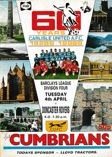 Carlisle United V Doncaster Rovers 4-4-89 | by cumbriangroundhopper