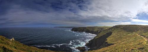 canon6d landscape panorama clouds sky coast sea cliffs nature outdoors landsend cornwall uk coastline