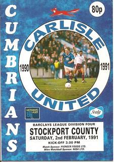 Carlisle United V Stockport County 2-2-91 | by cumbriangroundhopper