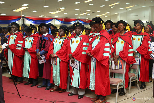 A cross-section of Members of Convocation at the Congregation.