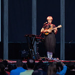 Mon, 17/09/2018 - 2:49pm - Tune-Yards (= tUnE-yArDs = Merrill Garbus) at Forest Hills Stadium in Queens, NY, 9/15/18. Photo by Gus Philippas/WFUV