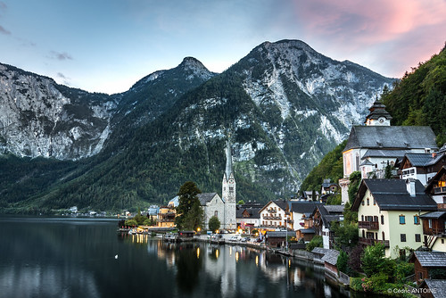 pink hallstatt sunset austria mountain city water cityscape autriche village lake nikon d750 wonderfulworld reflection bluehour cloud greaterphotographers inexplore