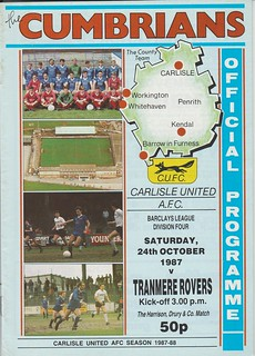 Carlisle United V Tranmere Rovers 24-10-87 | by cumbriangroundhopper