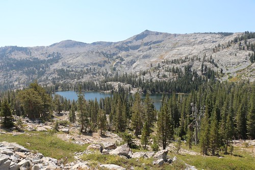 0155 Tamarack Lake lies below the PCT as we continue to climb with Ralston Peak across the way | by _JFR_