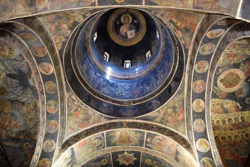 2018 bucarest rumanía românia valaquia iglesia monasterio church interior pintura arte art religión stavropoleos