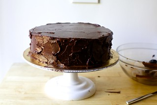 double layer chocolate cake, rustic | by smitten kitchen