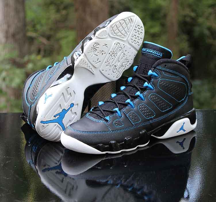 "new arrival 30d10 b0fc2 ... Air Jordan 9 Retro GS ""Photo Blue"" Black White 302359-007 Size 5.5"