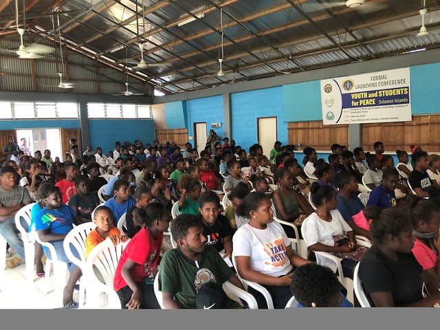 Solomon Islands-2018-07-13-Honiara, Solomon Islands, Hosts Oceania Leadership Conference and Launch of Youth and Students for Peace