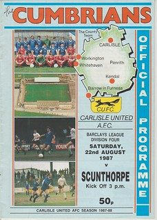 Carlisle United V Scunthorpe United 22-8-87 | by cumbriangroundhopper