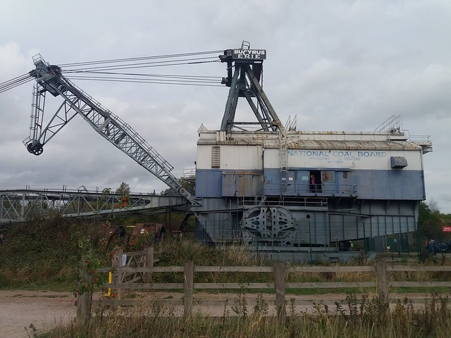 "Bucyrus Erie BE 1150 Walking Dragline Excavator ""Oddball""   St.Aidans Open Cast Mine, Swillington, Leeds"