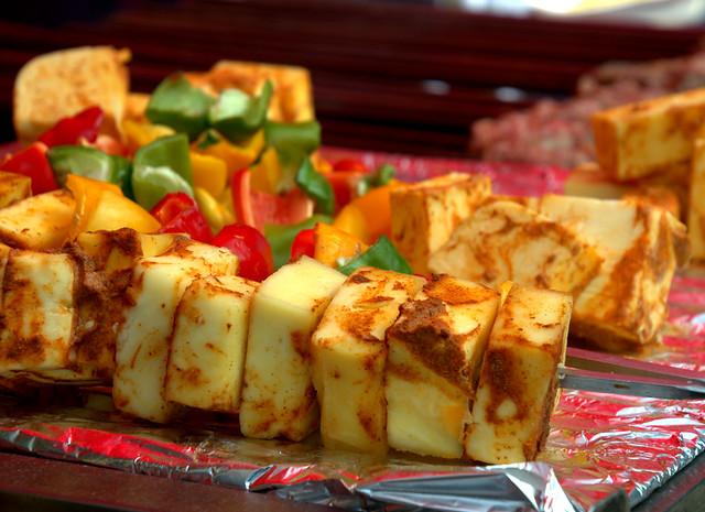 Street Halloumi Cheese Kebabs