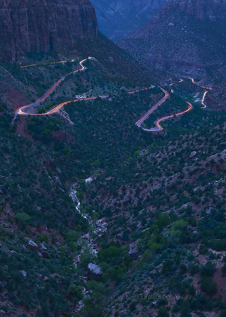 Zion light trails